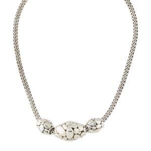"John Hardy sterling silver elliptical 16"" necklace"